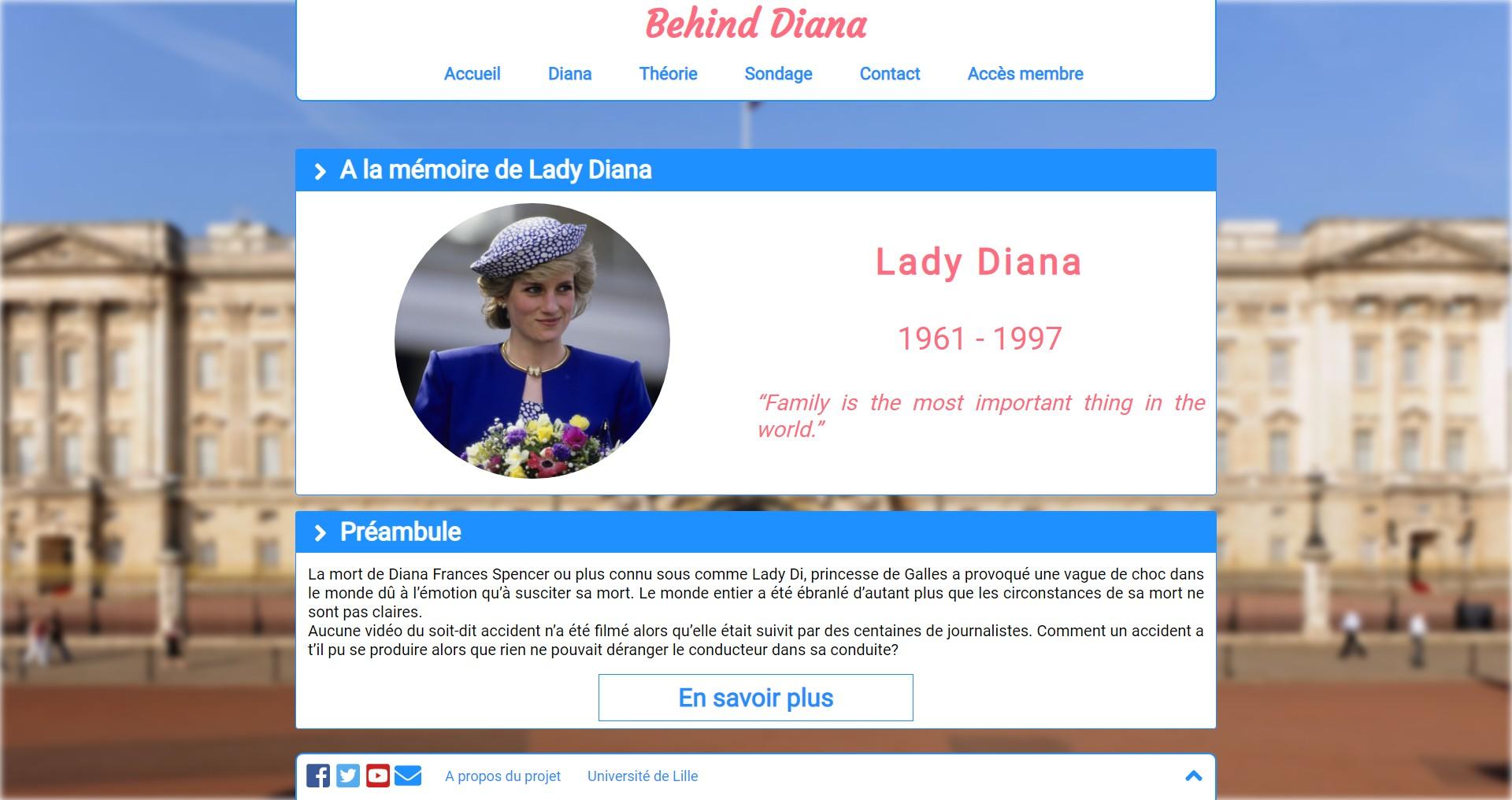 Aperçu du site